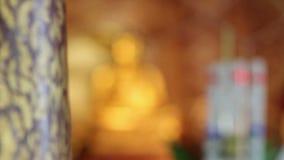 Het standbeeld van Phrasingh, Chiangmai Thailand stock footage