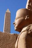Het Standbeeld van Ramses, Karnak Royalty-vrije Stock Foto's