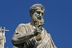 Het standbeeld van Rome St Peters Square Stock Fotografie