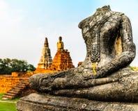 Het standbeeld van ruïnesboedha Royalty-vrije Stock Foto's