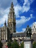 Het standbeeld van Rubens in Antwerpen Stock Foto's