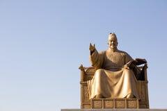 Het Standbeeld van Sejong van de koning Stock Afbeelding