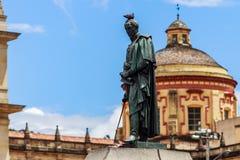 Het standbeeld van Simon Bolivar stock afbeeldingen