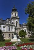 Het standbeeld van tellingsgyorgy laszlo festetics de tolna, Festetics-Paleis, Keszthely, Hongarije Stock Foto's