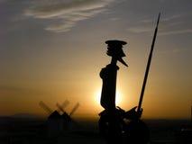Standbeeld van Don Quixote Stock Afbeelding