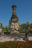 Het standbeeld van vier gezichtenBoedha in Hindoese stijl, Thaise tempel Thailand Royalty-vrije Stock Foto