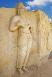 Het Standbeeld van Vihara van Potgul, Polonnaruwa, Sri Lanka stock afbeeldingen