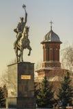 Het standbeeld van Viteazul van Mihai stock afbeelding