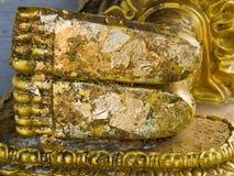 Het standbeeld van voetboedha, Stock Foto's