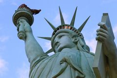 Het Standbeeld van Vrijheid, Amerika, Amerikaans Symbool, Verenigde Staten, New York, LasVegas, Guam, Parijs Stock Fotografie