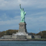 Het Standbeeld van Vrijheid in de Haven van New York Royalty-vrije Stock Afbeelding
