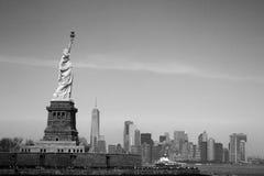 Het standbeeld van Vrijheid in New York Stock Afbeelding