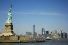 Het standbeeld van Vrijheid in New York Royalty-vrije Stock Afbeelding