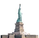 Het Standbeeld van Vrijheid, Oriëntatiepunten van New York, isoleerde witte achtergrond Stock Foto's