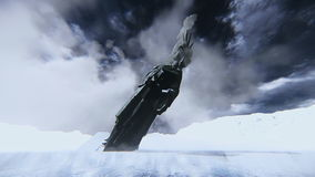Het standbeeld van Vrijheid vernietigde de ijslengte vector illustratie