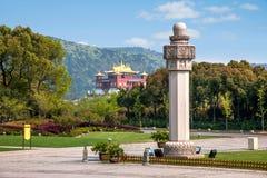 Het standbeeld van Wuxilingshan Boedha van Boedha Stock Foto