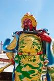 Het standbeeld van Yu van Guan in Chinese tempel Stock Afbeeldingen