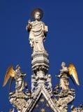 Het Standbeeld Venetië Italië van de Basiliek van het Teken van heilige Stock Afbeelding