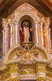 Het Standbeeldkathedraal Parroquia Dolores Hidalgo Mexico van Kerstmischristus Stock Afbeeldingen