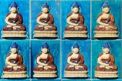 Het standbeeldpatroon van Boedha Stock Afbeelding