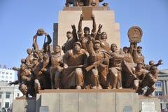 Het standbeeldstandbeelden van MAO zedong Stock Afbeeldingen