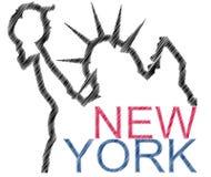 Het standbeeldvrijheid van New York Royalty-vrije Stock Afbeelding