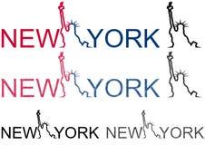 Het standbeeldvrijheid van New York Royalty-vrije Stock Afbeeldingen