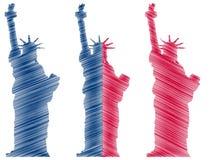 Het standbeeldvrijheid van New York Stock Afbeelding