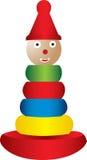 Het stapelen van stuk speelgoed illustratie Stock Illustratie