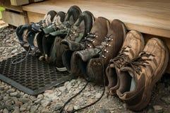 Het stappen van laarzen Stock Afbeeldingen