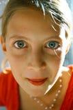 Het staren tienerportret Stock Foto