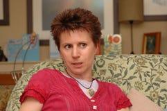 Het staren van de vrouw Royalty-vrije Stock Foto