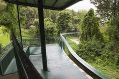 Het station in een dierentuin Stock Fotografie