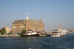 Het Station Istanboel Turkije van Haydarpasa Stock Foto