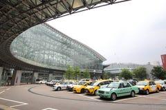 Het station Kanazawa Japan van Kanazawa van het taxiparkeren royalty-vrije stock afbeeldingen