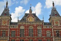 Het station van Amsterdam Stock Foto