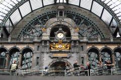 Het station van Antwerpen, België Royalty-vrije Stock Foto