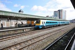Het station van Cardiff stock afbeelding