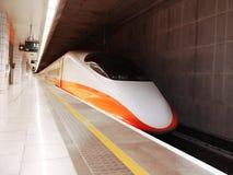 Het station van de hoge snelheid Stock Afbeeldingen