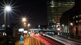 Het Station van de sneeuwheuvel en Groot Charles Street Queensway, Birmingham, het UK stock afbeeldingen