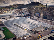 Het Station van Edinburgh Waverley Stock Foto's