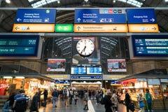 Het Station van Frankfurt stock afbeeldingen