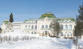 Het Station van Khabarovsk Stock Afbeeldingen