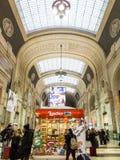 Het station van Milaan Centrale het winkelen Royalty-vrije Stock Afbeeldingen