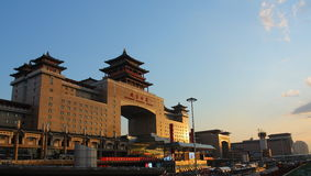 Het Station van Peking, het Westenstation Stock Afbeeldingen