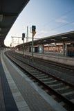 Het station van Plauenoberer Bahnhof Royalty-vrije Stock Foto's