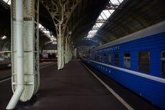 Het station van Vitebsk in St. Petersburg Stock Foto