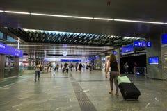 Het station van Wenen Hauptbanhof Stock Fotografie