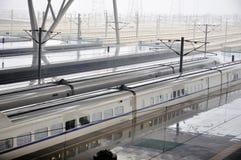Het Station van Wuhan Stock Foto's