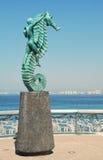 Het statuut van Seahorse op Malecón in Puerto Vallarta Stock Foto's